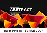 glossy mosaic style geometric... | Shutterstock .eps vector #1350263207