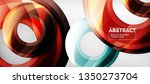 modern geometric circles... | Shutterstock .eps vector #1350273704