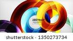 modern geometric circles... | Shutterstock .eps vector #1350273734