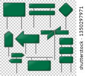 realistic green sign vector... | Shutterstock .eps vector #1350297971