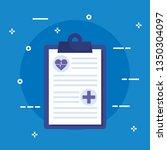 medical check list diagnosis... | Shutterstock .eps vector #1350304097