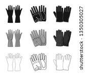 vector illustration of glove...   Shutterstock .eps vector #1350305027