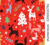 festive seamless pattern.... | Shutterstock . vector #1350310781