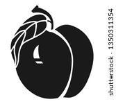 whole peach icon. simple... | Shutterstock .eps vector #1350311354