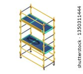 whole scaffold icon. isometric... | Shutterstock .eps vector #1350311444