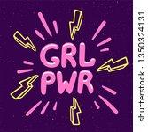 girl power movement. feminist... | Shutterstock .eps vector #1350324131