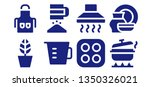 kitchenware icon set. 8 filled... | Shutterstock .eps vector #1350326021