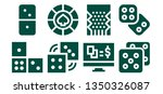 gamble icon set. 8 filled... | Shutterstock .eps vector #1350326087