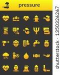 pressure icon set. 26 filled...   Shutterstock .eps vector #1350326267