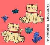cute cat vector design.   Shutterstock .eps vector #1350328757