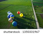 process of inflating large air... | Shutterstock . vector #1350331967