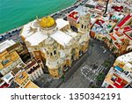 cadiz with drone   amazing air...   Shutterstock . vector #1350342191