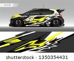 racing car wrap design vector.... | Shutterstock .eps vector #1350354431