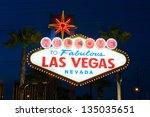 welcome to las vegas street sign | Shutterstock . vector #135035651