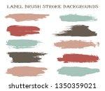 messy label brush stroke... | Shutterstock .eps vector #1350359021