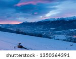winter panorama of zakopane.... | Shutterstock . vector #1350364391
