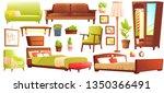 living or bedroom object set... | Shutterstock .eps vector #1350366491