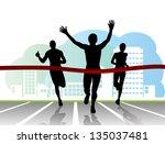 sport. runners | Shutterstock . vector #135037481
