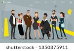 main page web design with... | Shutterstock .eps vector #1350375911