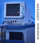 an anesthesia monitor shows... | Shutterstock . vector #1350376334