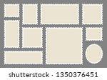 blank postage stamps frames set ... | Shutterstock .eps vector #1350376451