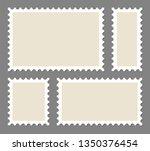 blank postage stamps frames set ... | Shutterstock .eps vector #1350376454