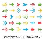 set vector arrows. arrows flat... | Shutterstock .eps vector #1350376457