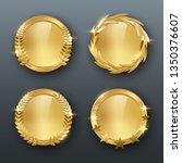 award golden blank medals 3d... | Shutterstock .eps vector #1350376607