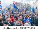 london  uk   march 23  2019 ... | Shutterstock . vector #1350390464