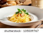 Traditional Carbonara Spaghetti ...