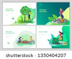 landing page template with... | Shutterstock .eps vector #1350404207