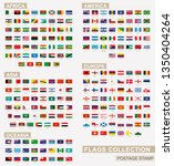 postage stamp with flags of the ... | Shutterstock .eps vector #1350404264