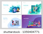 landing page template people... | Shutterstock .eps vector #1350404771