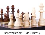chess board with chess pieces... | Shutterstock . vector #135040949