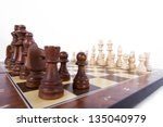 chess board with chess pieces... | Shutterstock . vector #135040979