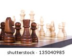 chess board with starting... | Shutterstock . vector #135040985