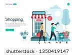 flat design concept of online... | Shutterstock .eps vector #1350419147