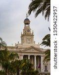 cadiz city hall on plaza san...   Shutterstock . vector #1350422957
