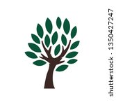 tree icon design with leaf | Shutterstock .eps vector #1350427247