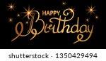 happy birthday golden text... | Shutterstock .eps vector #1350429494
