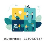 business concept. team metaphor.... | Shutterstock .eps vector #1350437867