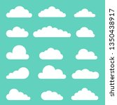 set of clouds against the sky ... | Shutterstock .eps vector #1350438917
