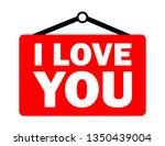i love you | Shutterstock .eps vector #1350439004