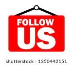 follow us inscription  | Shutterstock .eps vector #1350442151