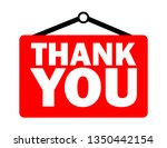 thank you inscription  | Shutterstock .eps vector #1350442154