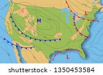 weather forecast usa.... | Shutterstock .eps vector #1350453584