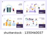 save money to buy future... | Shutterstock .eps vector #1350460037