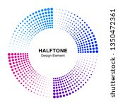 halftone colorful circle frame... | Shutterstock .eps vector #1350472361