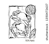seafood illustration. crabs on...   Shutterstock .eps vector #1350472637