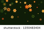 cute floral pattern with simple ... | Shutterstock .eps vector #1350483404